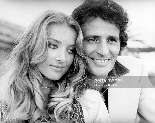 Portrait of the Germanborn Italian actress Barbara Bouchet and her husband the Italian businessman Luigi Borghese Rome 1970s