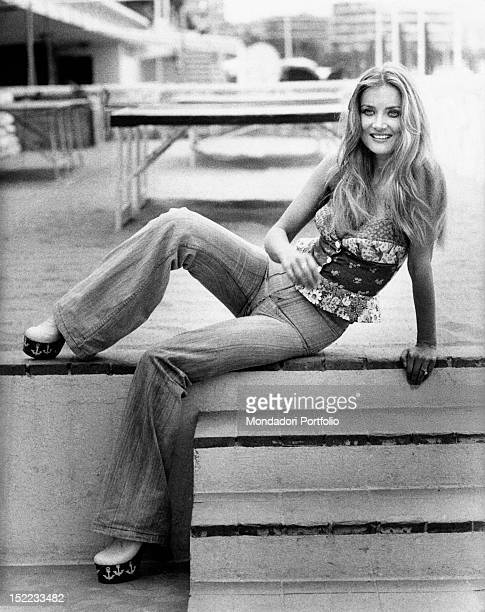 Portrait of the Germanborn Italian actress Barbara Bouchet Cannes 1970s