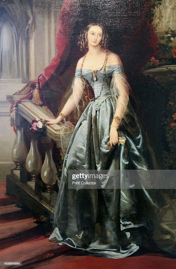 'Portrait of the Grand Duchess Olga Nikolaevna', 1841. Artist: Christina Robertson : News Photo