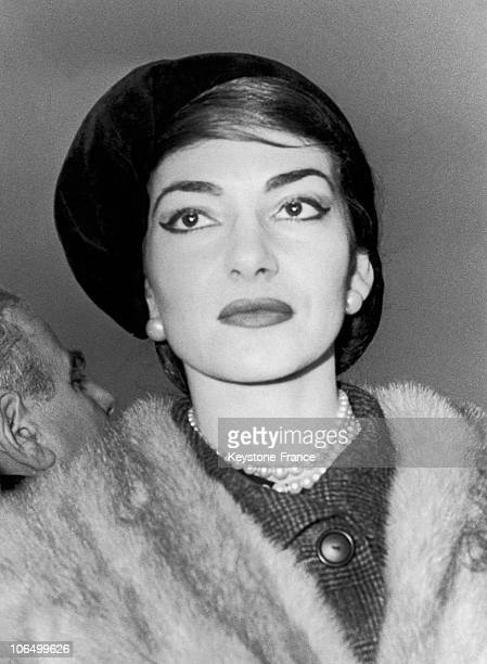 Portrait Of The Greek Opera Singer Maria Callas In 1958.