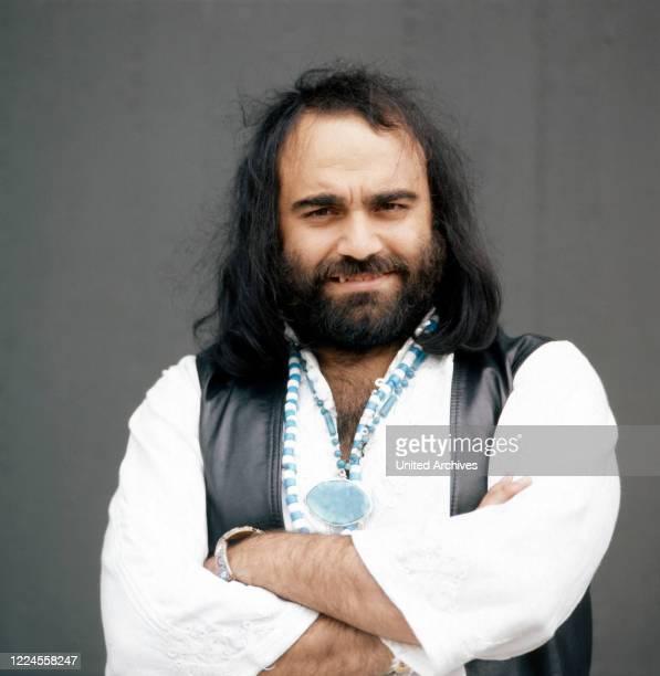 Portrait of the Greek singer Demis Roussos circa 1976