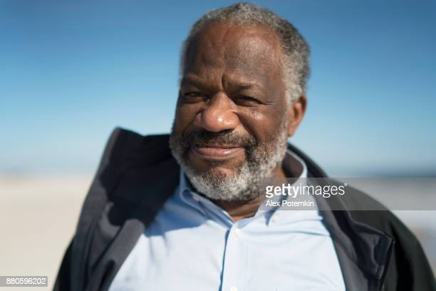 Portrait of the handsome senior black man