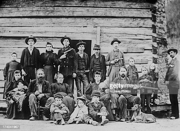 A portrait of the Hatfield family of West Virginia 1897 Between 1863 and 1891 the family engaged in a bloodfeud with the McCoy family of Kentucky...