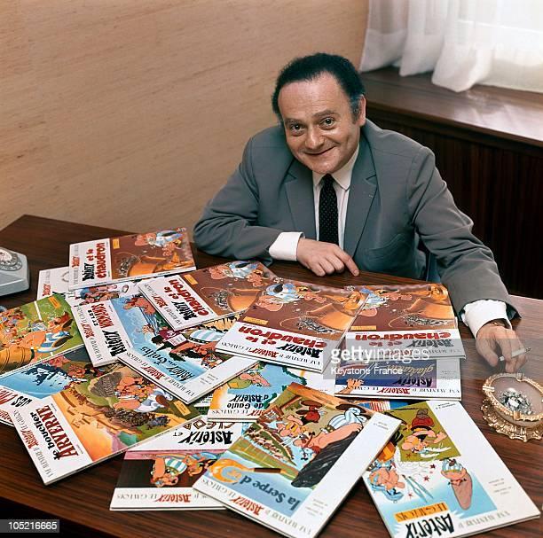 Portrait Of The Illustrator And Scriptwriter Of ComicStrips Rene Goscinny Scriptwriter Of Asterix Lucky Luke Et Iznogoud Around 1969 He Has Laid...