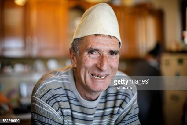 Portrait of the innkeeper of a guest house on March 30 2017 in Peja Kosovo