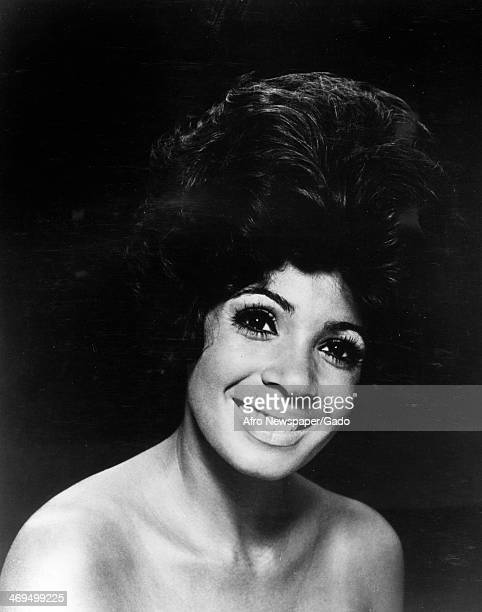Portrait of the internationally renowned Welsh black soul and RB singer Shirley Bassey 1958