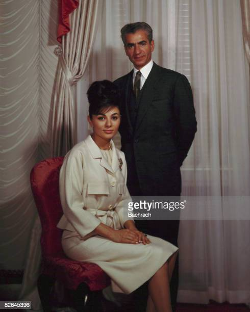 A portrait of the Iranian monarch Mohammad Reza Shah Pahlavi and his third wife Farah Pahlavi New York 1962