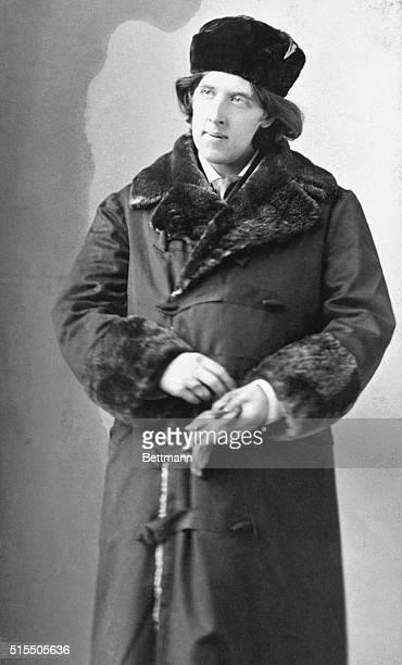 Portrait of the Irish author and poet Oscar Wilde