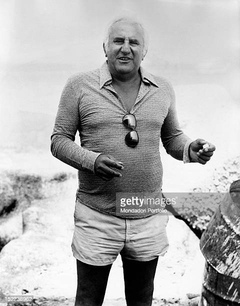 Portrait of the italian actor scriptwriter and director Adolfo Celi Ponza 1970s