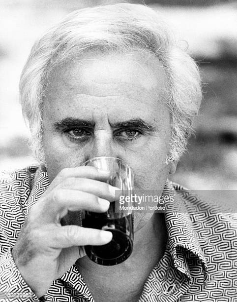 Portrait of the italian actor scriptwriter and director Adolfo Celi Rome 1970s