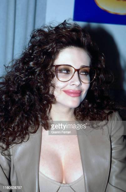 Portrait of the Italian actress Francesca Dellera Madrid Spain 1990