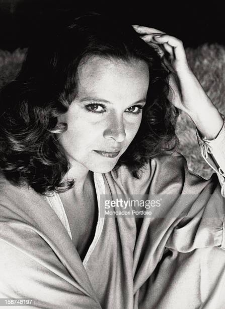 Portrait of the Italian actress Laura Antonelli in her house Rome 1979