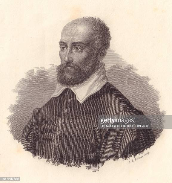 Portrait of the Italian architect Andrea Palladio pseudonym of Andrea di Pietro copper engraving Iconografia italiana degli uomini e delle donne...