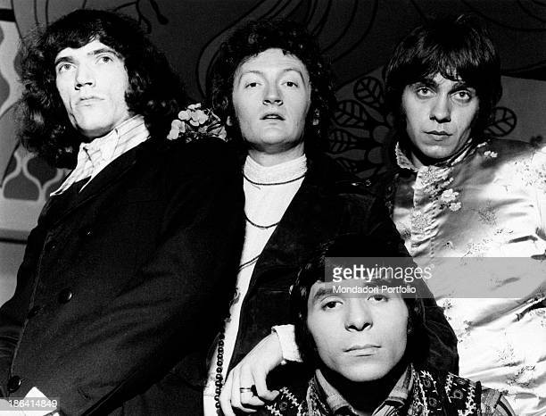 Portrait of the Italian beat music band from Modena Equipe 84 the group reached success in 1966 with the song Un giorno tu mi cercherai presented at...