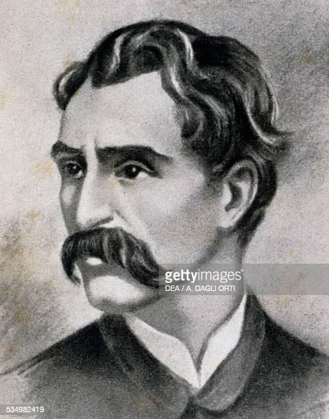 Portrait of the Italian composer Alfredo Catalani drawing 19th century Lucca Istituto Superiore Di Studi Musicali Luigi Boccherini
