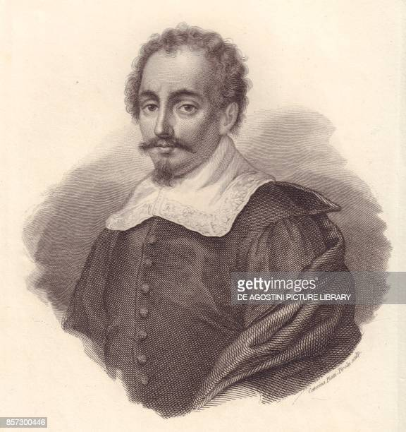 Portrait of the Italian geographer Jacopo Cantelli copper engraving by Caterina PiottiPirola from Iconografia italiana degli uomini e delle donne...
