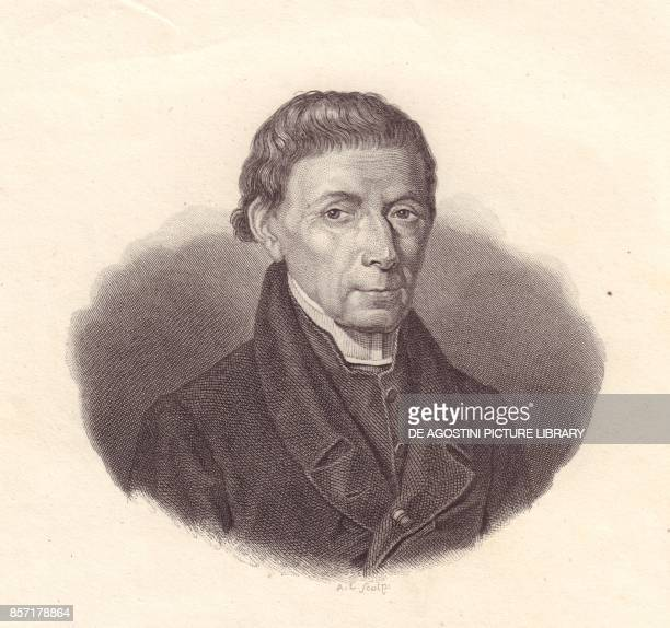 Portrait of the Italian mathematician and astronomer Barnaba Oriani copper engraving from the frawing by Demarchi from Iconografia italiana degli...