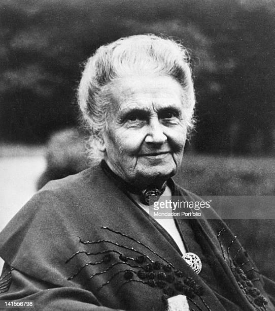 Portrait of the Italian pedagogue Maria Montessori 1940s