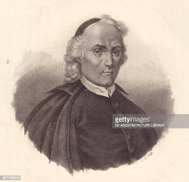 Portrait of the Italian Presbyterian and historian Ludovico Antonio Muratori copper engraving from Iconografia italiana degli uomini e delle donne...