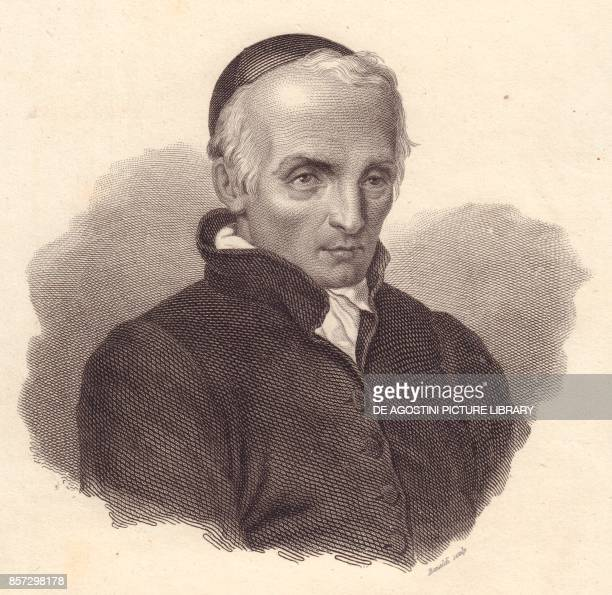 Portrait of the Italian religious and theologian Ottavio Giovanni Battista Assarotti copper engraving by Bonaldi from Iconografia italiana degli...