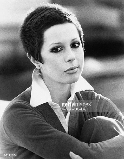 Portrait of the Italian singer and actress Daniela Goggi like her sister Loretta Daniela was a child prodigy as she debuted at the age of nine as an...
