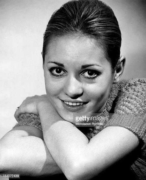 Portrait of the Italian singer Anna Identici 1968