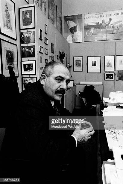 Portrait of the Italian theatrical impresario Paolo Grassi in the years when he having the post of director of the Piccolo Teatro in Milan founded by...