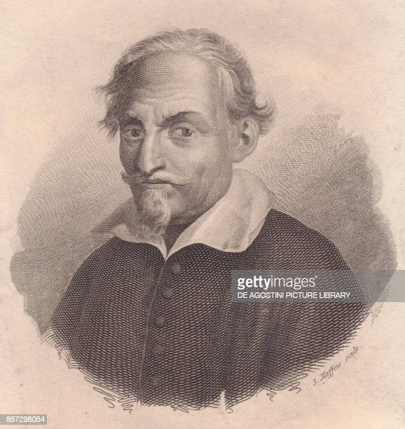 Portrait of the Italian writer and poet Alessandro Tassoni copper engraving by S Maffeis from Iconografia italiana degli uomini e delle donne celebri...