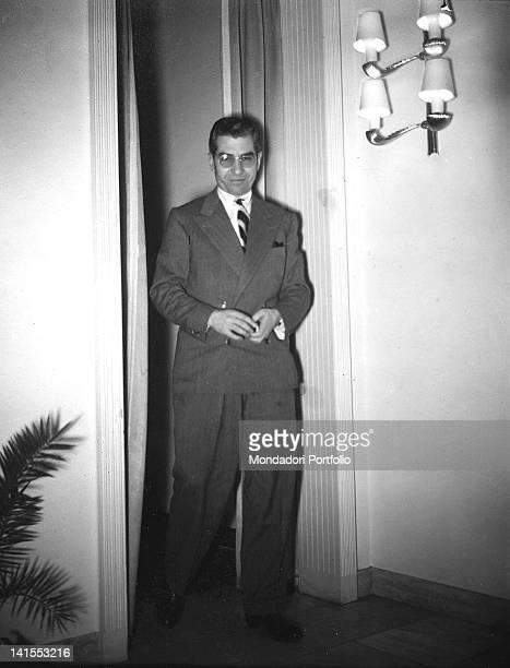 Portrait of the ItalianAmerican Mafia gangster Lucky Luciano 12th December 1948