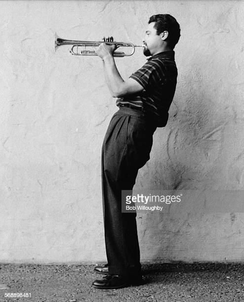 Portrait of the jazz trumpeter Shorty Rogers, 1955.