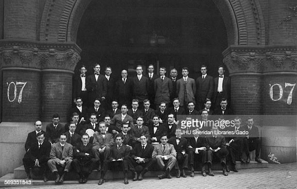 Portrait of the Johns Hopkins University Class of 1907, Baltimore, Maryland, 1907. Hunter, John Frederick, Perce, LeGrand Winfield, Jr,...