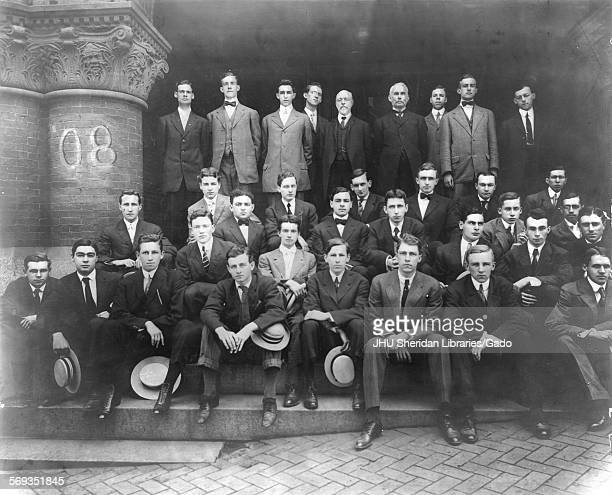 Portrait of the Johns Hopkins University Class of 1908 Baltimore Maryland 1908 Green Joseph Elliott Ridgley Julian White Williams Ralph Coplestone...