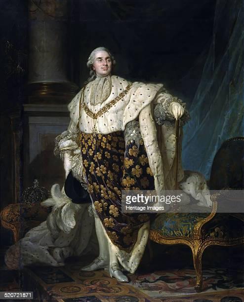 Portrait of the King Louis XVI . Found in the collection of Musée de l'Histoire de France, Château de Versailles.