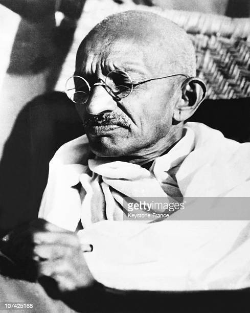 Portrait Of The Mahatma Gandhi At New Delhi In India On 1948