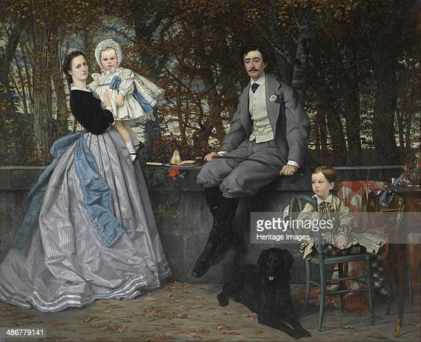 Portrait of the Marquis and Marchioness of Miramon and their children, 1865. Artist: Tissot, James Jacques Joseph