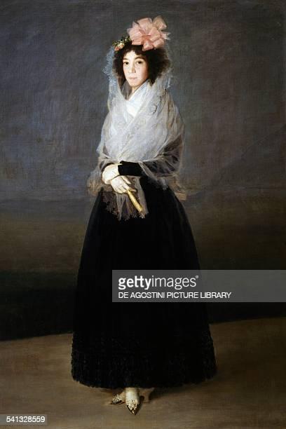 Portrait of the Marquise de La Solana 17941795 by Francisco Goya oil on canvas 181x122 cm 19th century Paris Musée Du Louvre