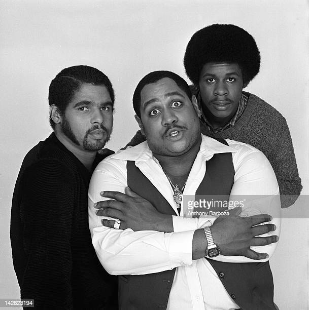 Portrait of the members of American hip hop group The Sugar Hill Gang New York New York November 1980 Pictured are from left Michael 'Wonder Mike'...