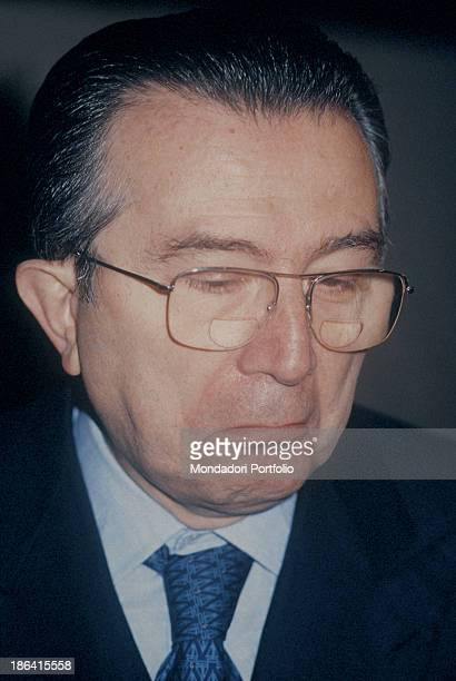 Portrait of the Ministry of Foreign Affairs of the Italian Republic Giulio Andreotti doubtful 1987
