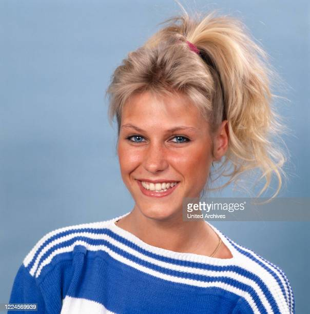 Portrait of the model and Miss Germany, 1988/1989 Nicole Reinhardt after her coronation, Germany Cologne 1989.