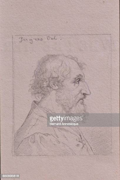 Portrait of the most famous French fabulist and poet Jean de La Fontaine by JeanAugusteDominique Ingres