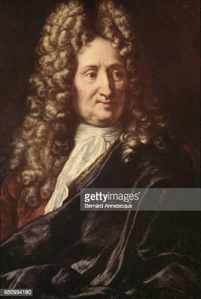 Portrait of the most famous French fabulist and poet Jean de La Fontaine