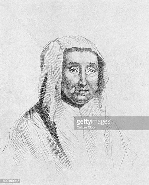 Portrait of the mother of Alexander Pope after the drawing by Jonathan Richardson AP English poet known for his translation of Homer 21 May 1688 Ð 30...