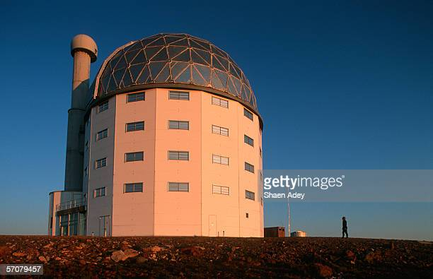 portrait of the new state of the art salt telescope - the karoo stock photos and pictures