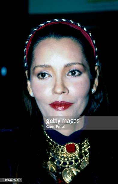 Portrait of the Nicaraguan actress Barbara Carrera Madrid Spain 1991