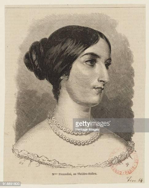 Portrait of the operatic soprano Erminia Frezzolini 1840s Found in the collection of Bibliothèque Nationale de France