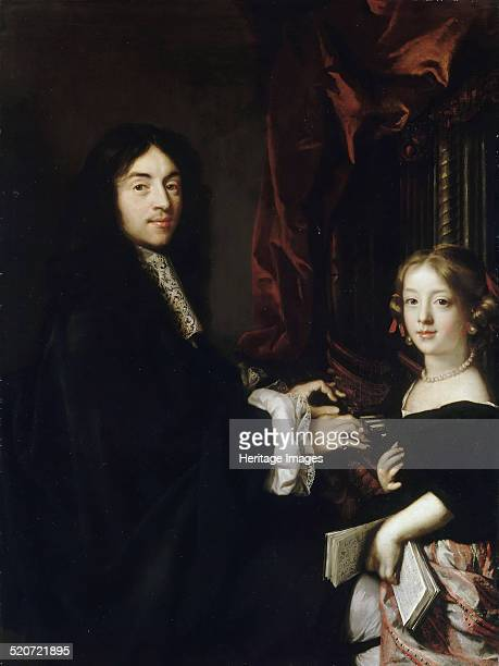 Portrait of the Organist Charles Couperin with the Daughter Found in the collection of Musée de l'Histoire de France Château de Versailles
