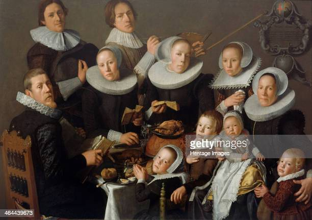 Portrait of the painter Andries van Bochoven and his family 1629 Found in the collection of the Centraal Museum Utrecht