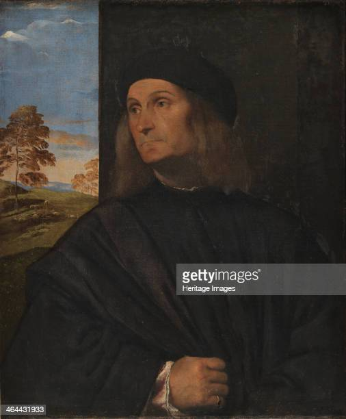 Portrait of the Painter Giovanni Bellini 15111512 Found in the collection of the Statens Museum for Kunst Copenhagen