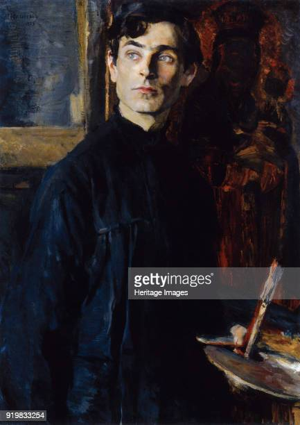 Portrait of the painter Pavel Dmitriyevich Korin 1925 Found in the collection of P Korin Memorial Museum Moscow
