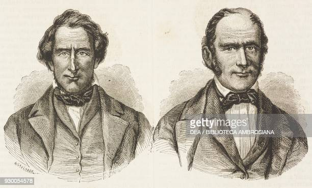 Portrait of the Patriarch Jedidiath Grant and vice president of the Mormons Heber Chase Kimball United States of America drawing by FrancoisFortune...